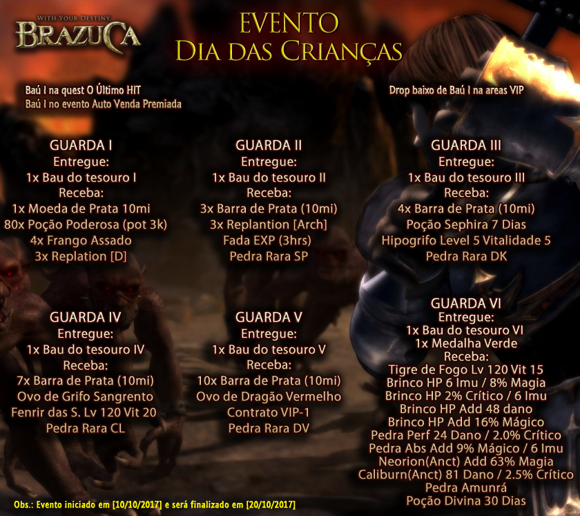 WYD Brazuca - BzC - Evento de Setembro